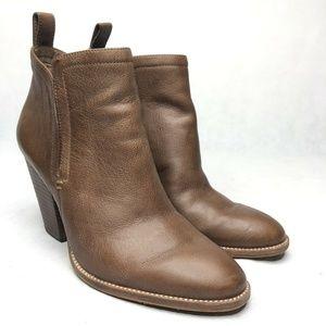 Dolce Vita Booties Slip On Brown Pointed Toe Women